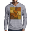 Awesome Funny Golden Retriever Dog Abstract Art Mens Hoodie