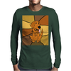 Awesome Funny Golden Retriever Dog Abstract Art Mens Long Sleeve T-Shirt