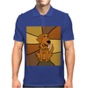 Awesome Funny Golden Retriever Dog Abstract Art Mens Polo