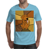 Awesome Funny Golden Retriever Dog Abstract Art Mens T-Shirt