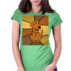 Awesome Funny Golden Retriever Dog Abstract Art Womens Fitted T-Shirt