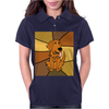 Awesome Funny Golden Retriever Dog Abstract Art Womens Polo