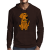 Awesome Funny Golden Retriever with Beer Bottle Mens Hoodie