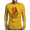 Awesome Funny Golden Retriever with Beer Bottle Mens Long Sleeve T-Shirt