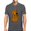 Awesome Funny Golden Retriever with Beer Bottle Mens Polo