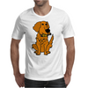 Awesome Funny Golden Retriever with Beer Bottle Mens T-Shirt