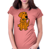 Awesome Funny Golden Retriever with Beer Bottle Womens Fitted T-Shirt