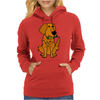 Awesome Funny Golden Retriever with Beer Bottle Womens Hoodie