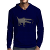 Awesome Funny Gray Barking Watchdog Cartoon Mens Hoodie