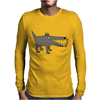 Awesome Funny Gray Barking Watchdog Cartoon Mens Long Sleeve T-Shirt