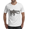 Awesome Funny Gray Barking Watchdog Cartoon Mens T-Shirt