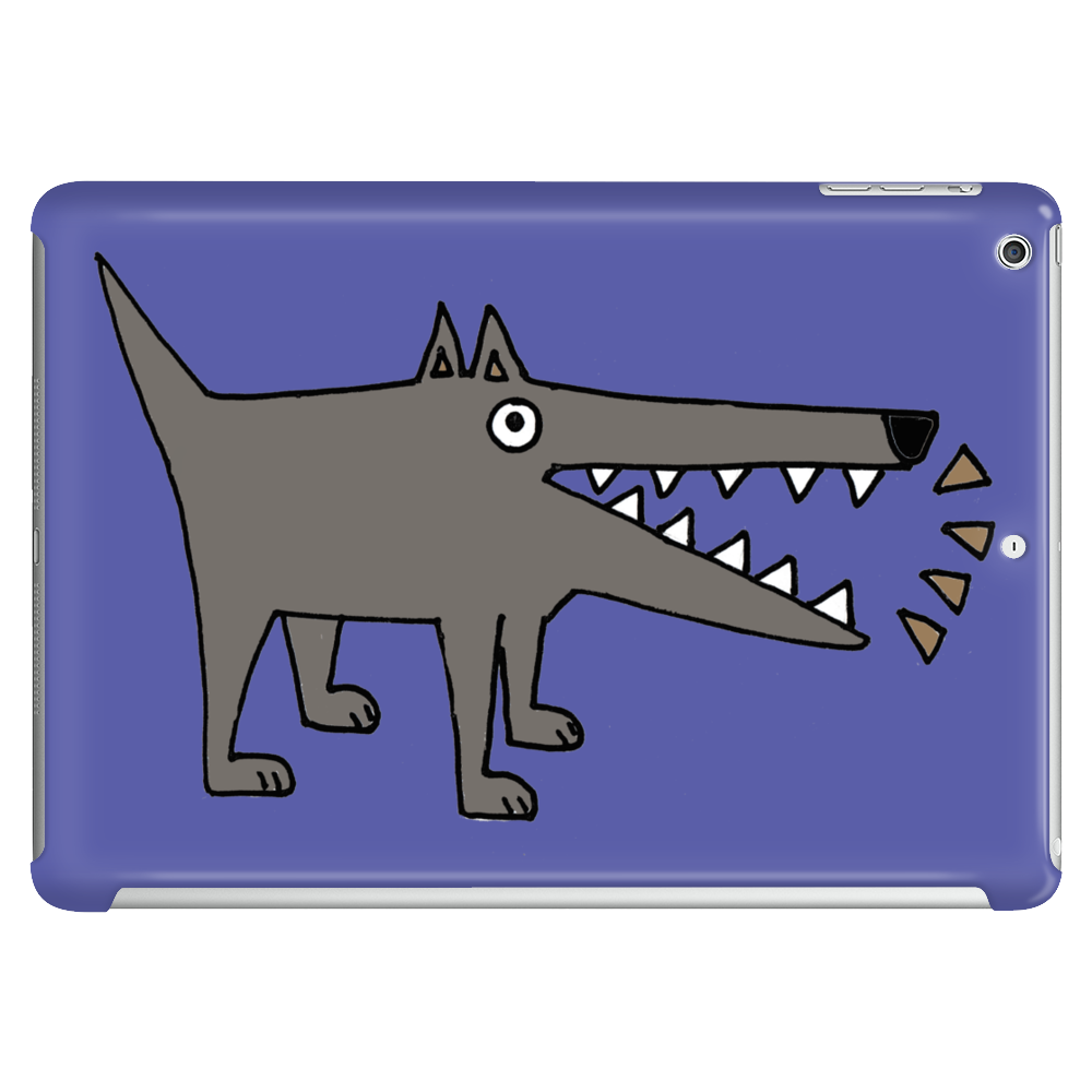 Awesome Funny Gray Barking Watchdog Cartoon Tablet