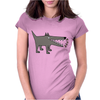 Awesome Funny Gray Barking Watchdog Cartoon Womens Fitted T-Shirt