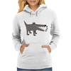 Awesome Funny Gray Barking Watchdog Cartoon Womens Hoodie