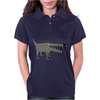 Awesome Funny Gray Barking Watchdog Cartoon Womens Polo