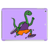 Awesome Funny Green Brontosaurus Dinosaur Jogging Tablet