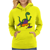 Awesome Funny Green Brontosaurus Dinosaur Jogging Womens Hoodie