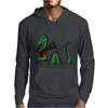 Awesome Funny Green Loch Ness Monster Playing the Bagpipes Mens Hoodie