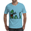 Awesome Funny Green Loch Ness Monster Playing the Bagpipes Mens T-Shirt