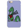 Awesome Funny Green Loch Ness Monster Playing the Bagpipes Phone Case
