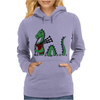 Awesome Funny Green Loch Ness Monster Playing the Bagpipes Womens Hoodie