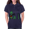 Awesome Funny Green Loch Ness Monster Playing the Bagpipes Womens Polo
