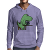 Awesome Funny Green T-rex Dinosaur Playing Cards Mens Hoodie