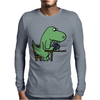 Awesome Funny Green T-rex Dinosaur Playing Cards Mens Long Sleeve T-Shirt