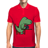 Awesome Funny Green T-rex Dinosaur Playing Cards Mens Polo