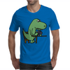 Awesome Funny Green T-rex Dinosaur Playing Cards Mens T-Shirt