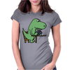 Awesome Funny Green T-rex Dinosaur Playing Cards Womens Fitted T-Shirt