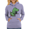 Awesome Funny Green T-rex Dinosaur Playing Cards Womens Hoodie