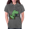 Awesome Funny Green T-rex Dinosaur Playing Cards Womens Polo