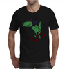 Awesome Funny Green T-Rex Dinosaur Sow Skiing Mens T-Shirt