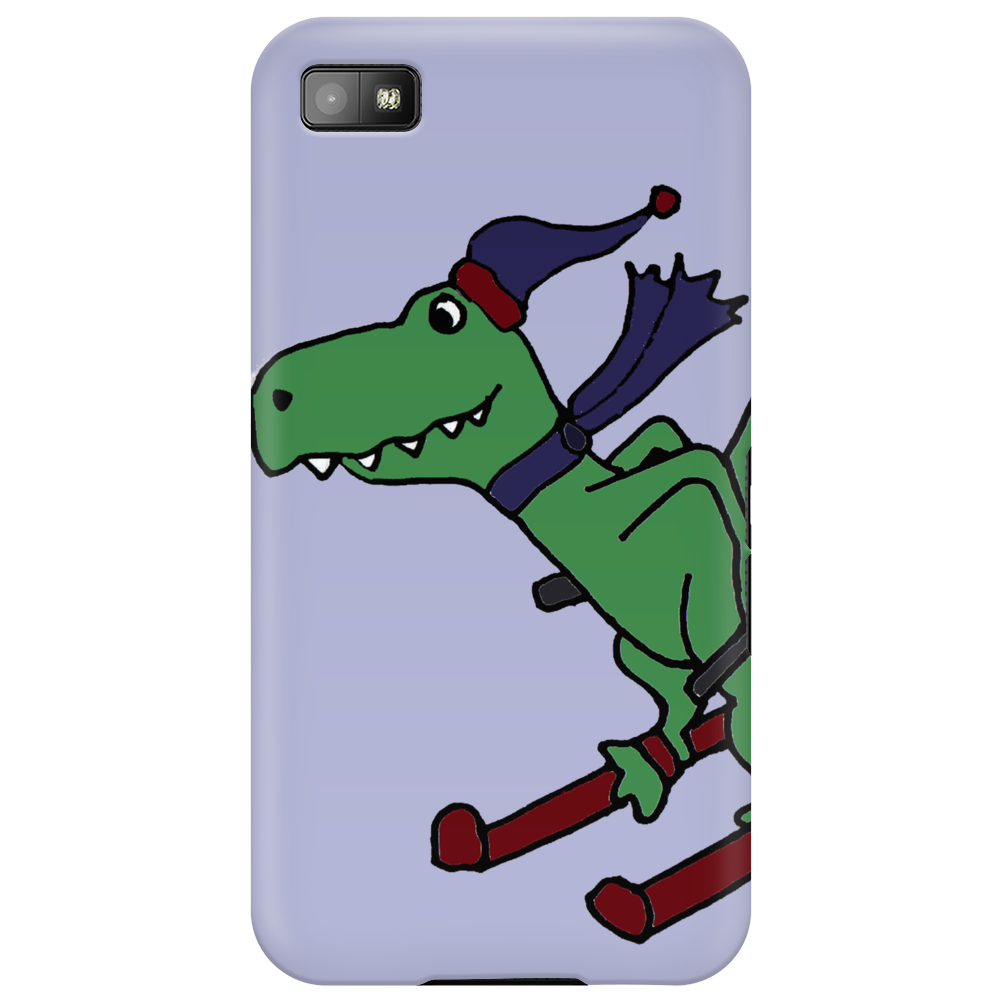 Awesome Funny Green T-Rex Dinosaur Sow Skiing Phone Case