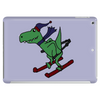 Awesome Funny Green T-Rex Dinosaur Sow Skiing Tablet