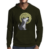 Awesome Funny Grey Wolf Howling at the Moon Art Mens Hoodie