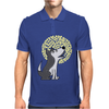 Awesome Funny Grey Wolf Howling at the Moon Art Mens Polo