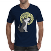 Awesome Funny Grey Wolf Howling at the Moon Art Mens T-Shirt