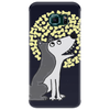 Awesome Funny Grey Wolf Howling at the Moon Art Phone Case