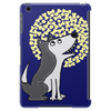 Awesome Funny Grey Wolf Howling at the Moon Art Tablet