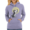Awesome Funny Grey Wolf Howling at the Moon Art Womens Hoodie