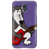 Awesome Funny Grey Wolf Playing Red Guitar Phone Case