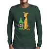 Awesome Funny Greyhound Dog Drinking Beer Mens Long Sleeve T-Shirt