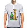 Awesome Funny Greyhound Dog Drinking Beer Mens Polo