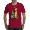 Awesome Funny Greyhound Dog Drinking Beer Mens T-Shirt