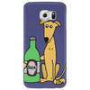 Awesome Funny Greyhound Dog Drinking Beer Phone Case