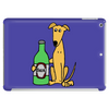 Awesome Funny Greyhound Dog Drinking Beer Tablet
