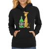 Awesome Funny Greyhound Dog Drinking Beer Womens Hoodie