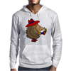 Awesome Funny Hedgehog Holding Daisy Flower Mens Hoodie
